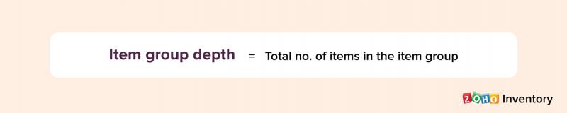 Item group depth - Zoho Inventory