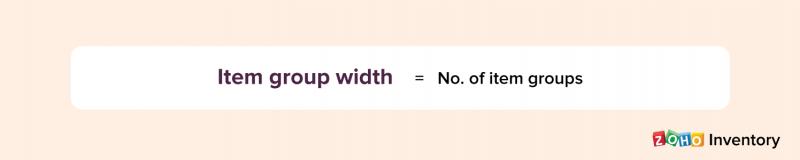 Item group width formula - Zoho Inventory