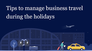 Business travel during holiday season