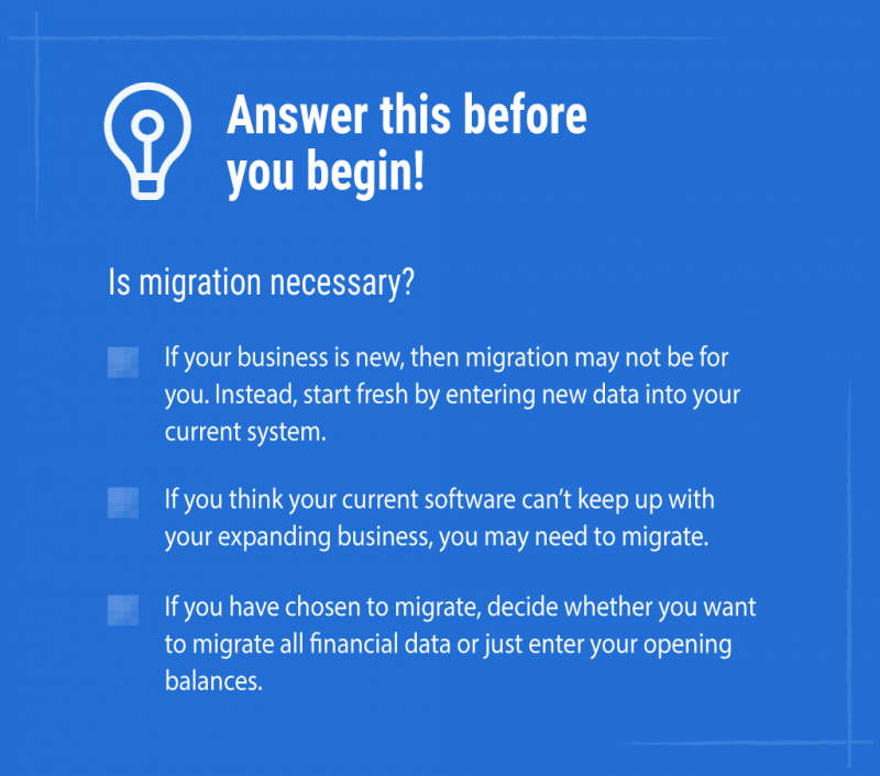 Accounting system implementation checklist for migrating to a new accounting software